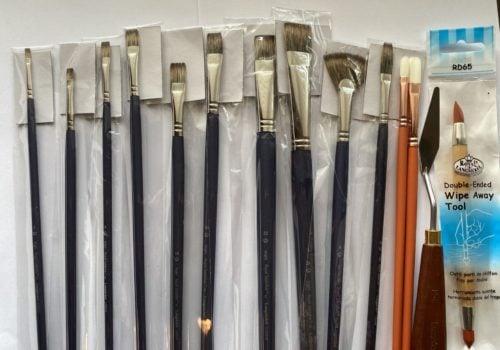 Robbins Sabletek brush set inspired to paint