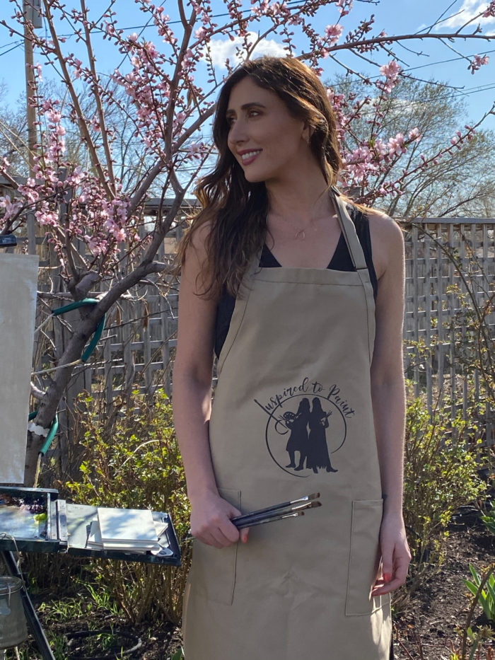 Inspired to paint apron