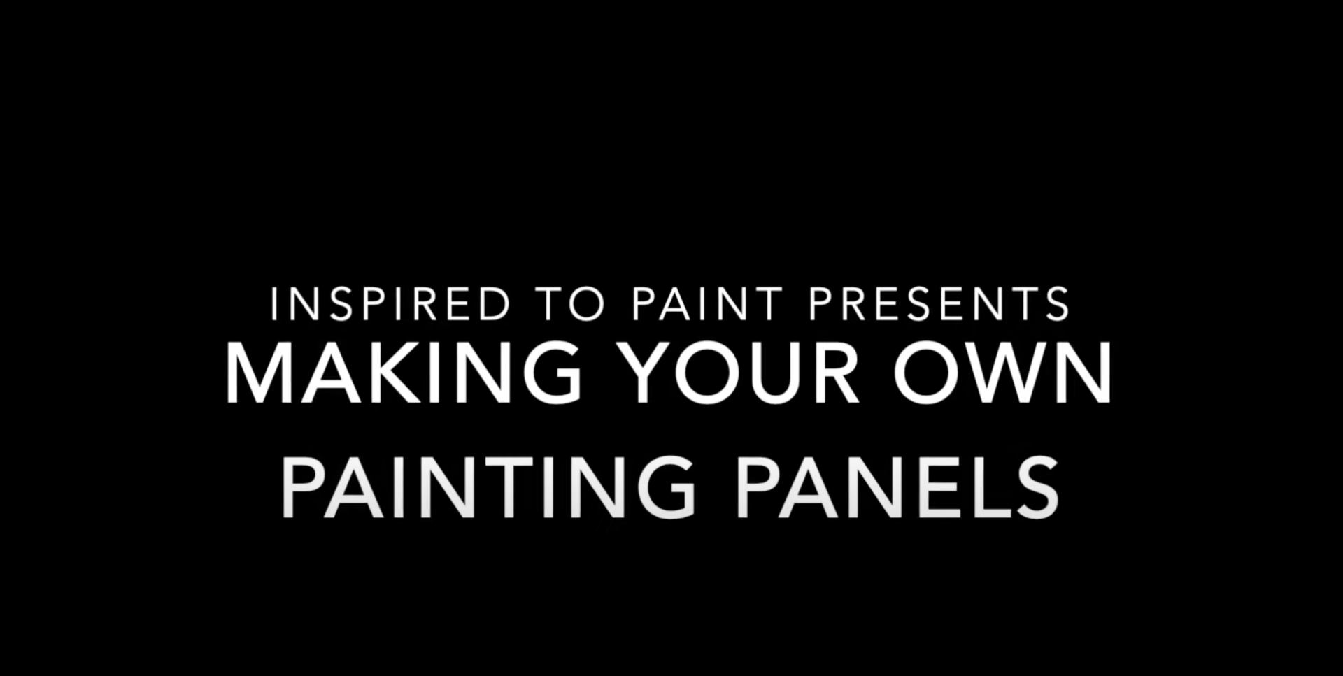 How to make painting panels