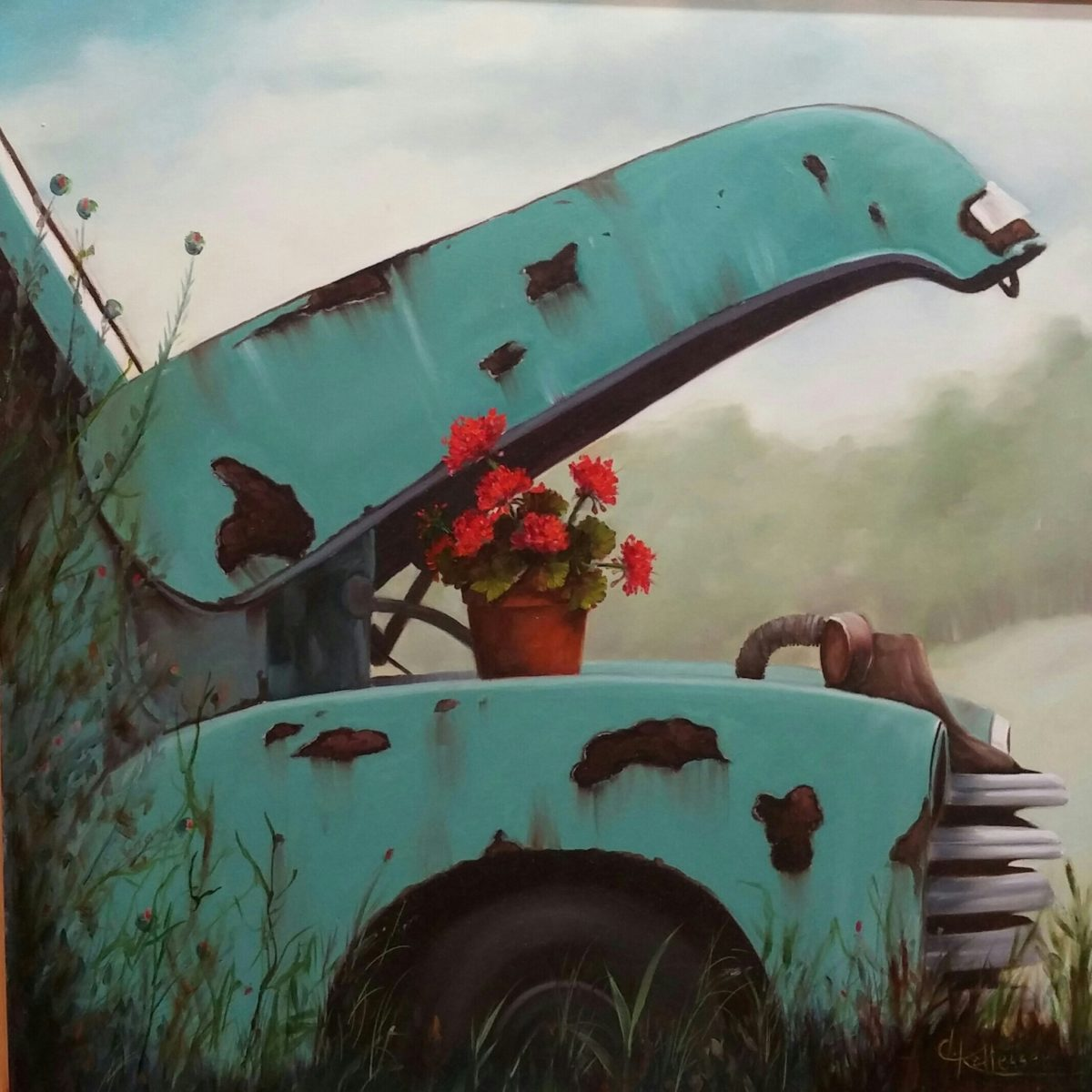 Donna Kallesser Image 1 old truck with flowers