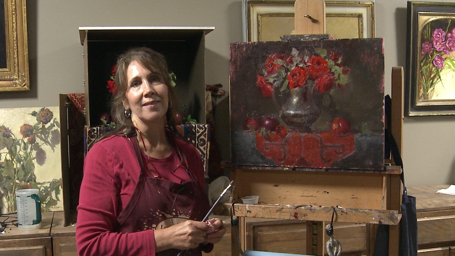 Painting Red Roses Elizabeth Robbins
